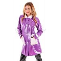 KF PVC Plastik - Damen Jacke Plastikregenjacke Kurzmantel RA70 MOD JACKET