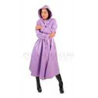 KF PVC Plastik - Mantel Regenmantel Folienmantel 1950er-Style Kapuze Damen RA86 RUBY COAT