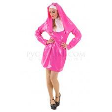 KF PVC Plastik - Nonnen Outfit kurz Kostüm UN11 SHORT NUNS DRESS