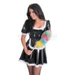 KF PVC Plastik - Dienstmädchen-Kostüm Putzfrauenkleid UN17 LADIES WAITRESS DRESS