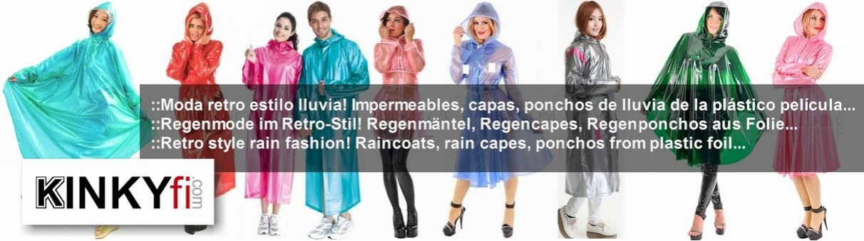 Retro-Regenmode aus Plastik