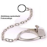 CLEJUSO - Nr. 8/50cm  Fußschellen Fussfesseln Kette Ring