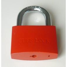 CUFF LOCK - CLOKRED Vorhängeschloss Padlock für standard Handschellen-Schlüssel rot