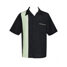 "Charlie Harper Shirt Bowling-Hemd ST37057 ""Pop-Check Single Panel"" Schwarz Beige"
