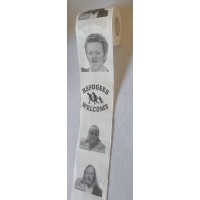 Toilet Paper Die Grünen, Roth, Hofreiter, Künast, Refugees Welcome Toilet paper with picture