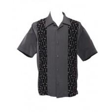 "Charlie Harper Shirt Bowling-Hemd ST35375CHA ""TikiLand Button Up"" Grau"