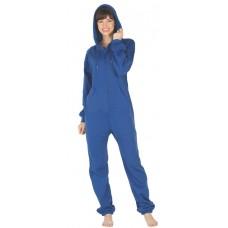 Fleece - Freizeitoverall Jumpsuit Einteiler blau BLUE mit Kapuze