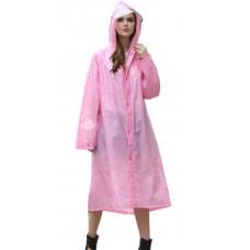 Rainfreem - EVA Regenmantel 3/4 lang Reißverschluß gemustert Platz für Rucksack QFM-EVA-LSBB