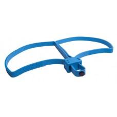 UZI Plastikfessel Doppelschlaufe TRAINING BLUE FLEX CUFF Blau