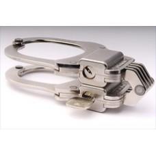 CLEJUSO - Nr. 102 Hochsicherheits-Handschellen Kette, vernickelt