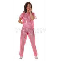 KF PVC Plastik - Damen-Pyjama Schlafanzug NW04 Ladies Pajamas