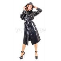 KF PVC Plastik - Damen-Regenmantel mit Kapuze RA68HOOD ECO RAINCOAT