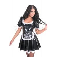 KF PVC Plastik - Dienstmädchen-Kostüm Putzfrauenkleid für Männer UN18 MALE WAITRESS DRESS